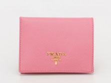 プラダ 1M0204 二つ折り財布 ピンク サフィアーノ