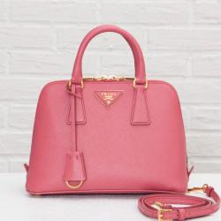☆梨花さん、ローラさん愛用☆PRADA サフィアーノ 2WAYバッグ ピンク