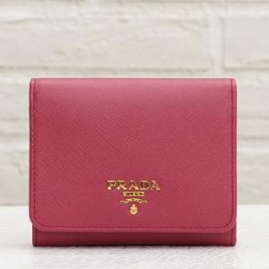 プラダ 三つ折り財布 サフィアーノ イビスコ ピンク系
