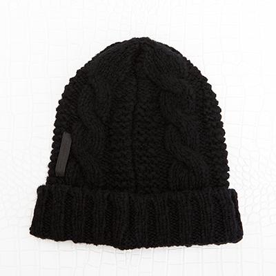 プラダ ニットキャップ ニット帽 ブラック 黒 メンズ レディース ユニセックス ブレード