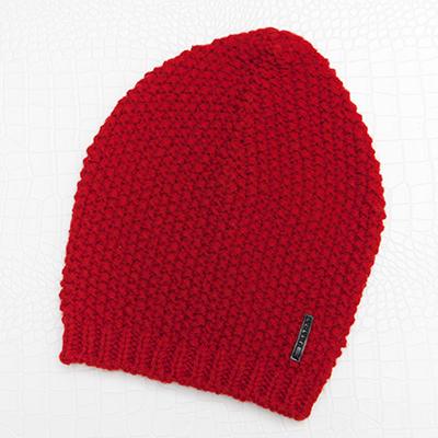 プラダ ニット帽 赤 レッド