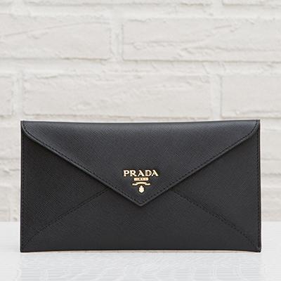 プラダ サフィアーノ ドキュメントケース 長財布 お札入れ ブラック 黒