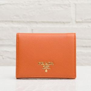 プラダ サフィアーノ 二つ折り財布 ミニ オレンジ