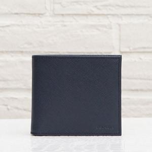 プラダ サフィアーノ メンズ 二つ折り財布 ネイビーブルー 紺色