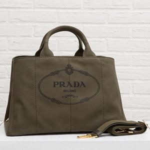 プラダ カナパトートバッグ 2way ミリタリーグリーン カーキ Lサイズ マザーズバッグ