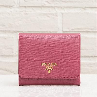 プラダ サフィアーノ 三つ折り財布 ピンク