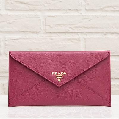 プラダ サフィアーノ 財布 ピンク マルチケース お札入れ