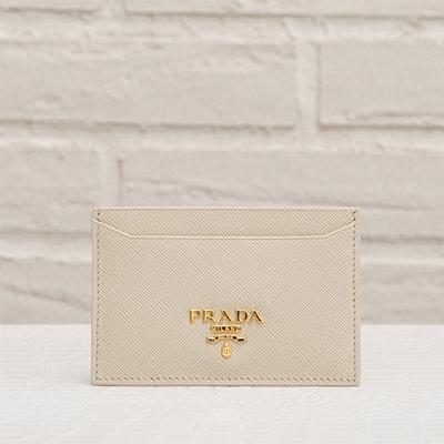 プラダ サフィアーノ カードケース パスケース アイボリー クリーム色