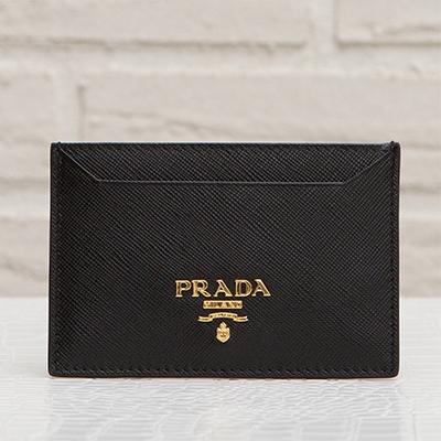 プラダ サフィアーノ カードケース パスケース ブラック 黒