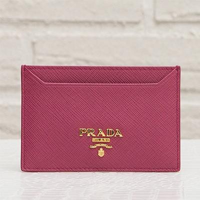 プラダ サフィアーノ カードケース パスケース イビスコピンク