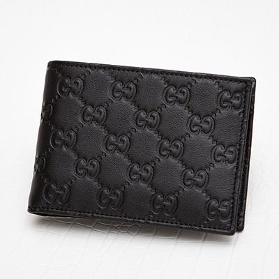 グッチ メンズ グッチッシマ 二つ折り財布 男性 クリスマスプレゼント ギフト ブラック 黒
