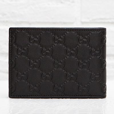 グッチ メンズ グッチッシマ 二つ折り財布 男性 ブラック 黒 GGロゴ