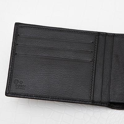 グッチ メンズ グッチッシマ 二つ折り財布 男性 ブラック 黒