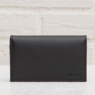 プラダ メンズ サフィアーノ カードケース 名刺入れ ブラック 黒