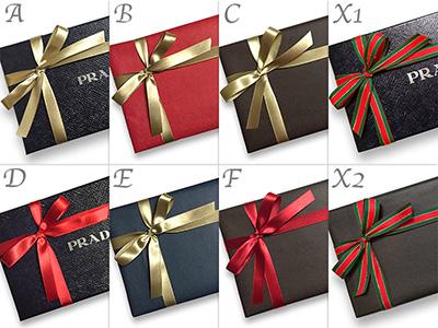 プラダ ボックス 財布 専用箱 ギフトラッピング プレゼント包装 クリスマスバージョン