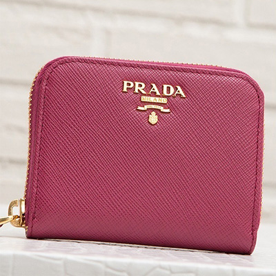プラダ サフィアーノ コインケース アラウンドジップ ファスナー カード 小銭入れ ミニ財布 シンプル