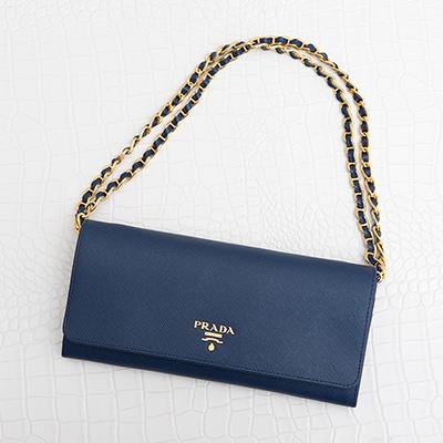 Prada 1mt290 1m1290 saffiano metal shoulder wallet bluette 06