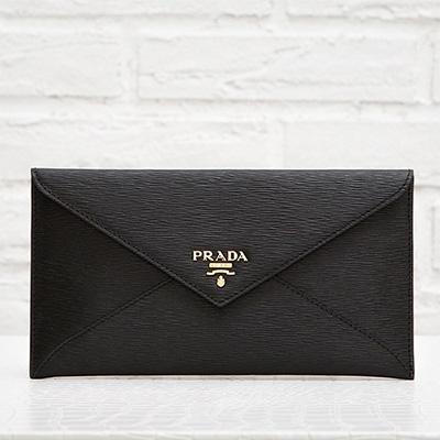 プラダ 財布 マルチケース お札入れ ブラック 黒