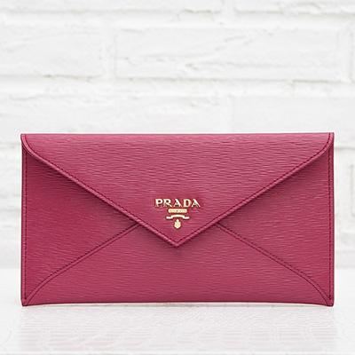 プラダ 財布 マルチケース ピンク お札入れ 封筒型