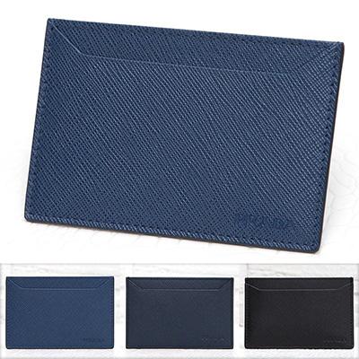 プラダ サフィアーノ カードケース メンズ 定期 ICカード入れ シンプル ダークブルー ネイビー 紺色 ブラック 黒