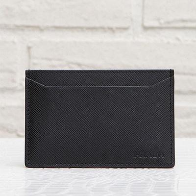 プラダ サフィアーノ カードケース メンズ 定期 ICカード入れ シンプル ブラック 黒