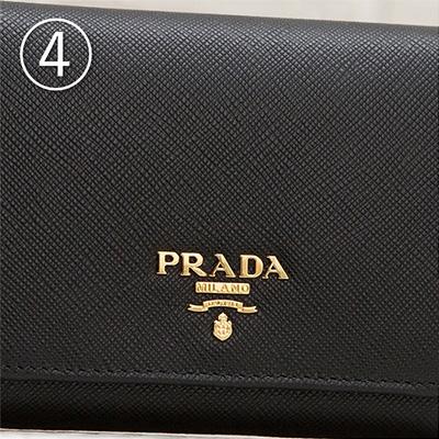 プラダ サフィアーノ 三つ折り財布 ブラック 黒 折りたたみ コンパクト カード入れ 収納が充実 シンプル 上品 エレガント ロゴ