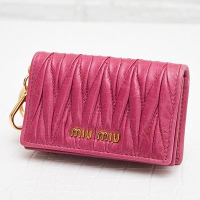 ミュウミュウ マトラッセ カードケース 名刺入れ ピンク