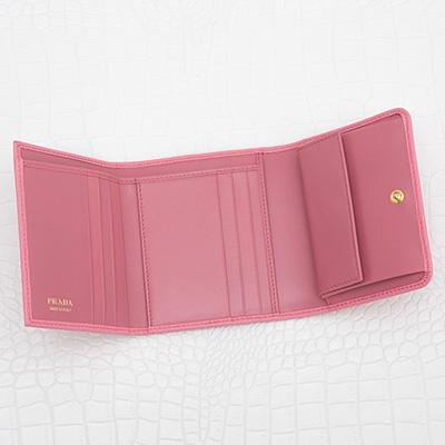 プラダ 財布 ピンク 三つ折り
