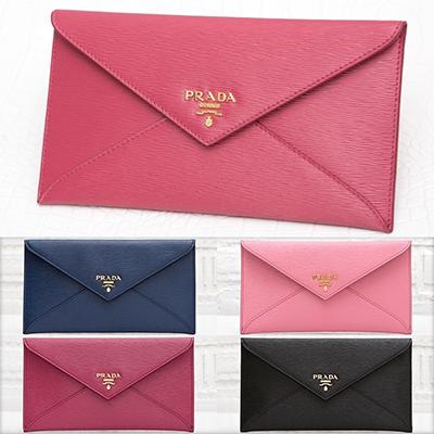 プラダ 財布 お札入れ ピンク ブラック