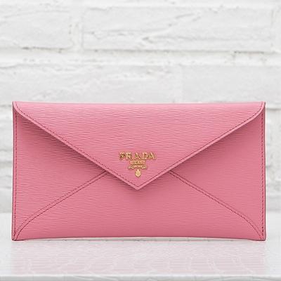 プラダ 財布 ピンク お札入れ 封筒型