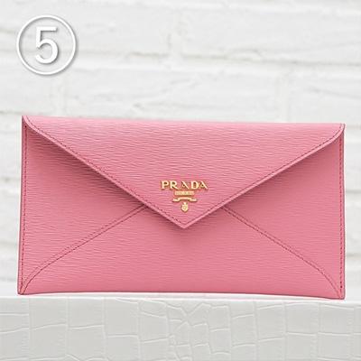 プラダ 財布 ピンク お札入れ