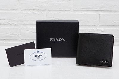 プラダ 財布 メンズ サフィアーノ ブラック