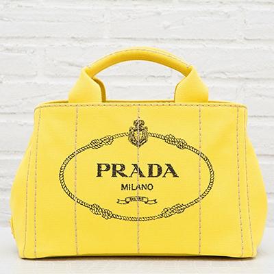 プラダ カナパ キャンバス トートバッグ イエロー 黄色 S ミニサイズ