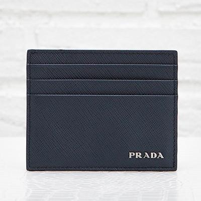 プラダ サフィアーノ カードケース メンズ パスケース ネイビー