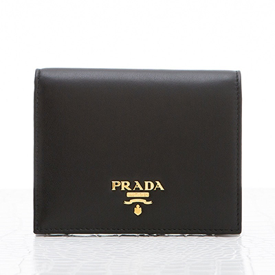 プラダ 財布 二つ折り ブラック 黒 ミニ財布 ヴィテッロ