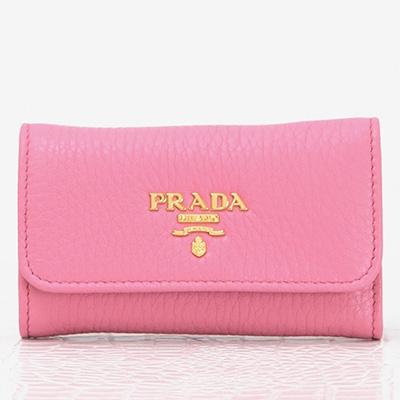 プラダ キーケース ピンク 可愛い レザー