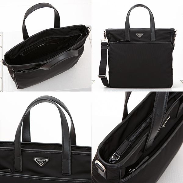 プラダ ナイロントート トートバッグ メンズ ショルダー ブラック 黒 ビジネスバッグ カジュアル
