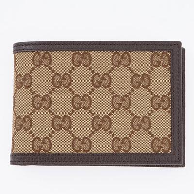 グッチ 財布 GG柄 キャンバス メンズ 二つ折り財布
