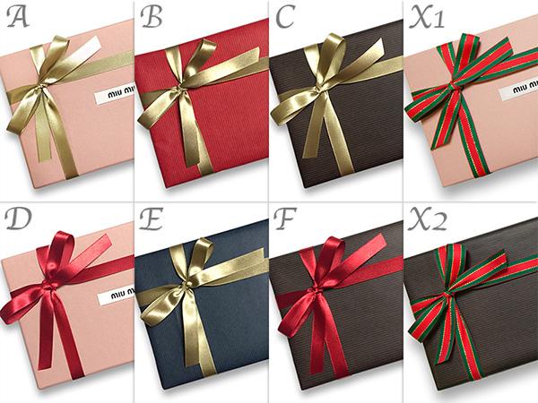 ミュウミュウ ラッピング クリスマスプレゼント ギフト 包装