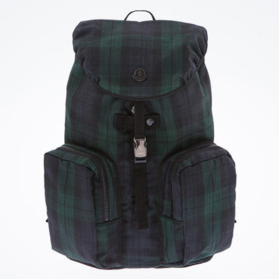 moncler_backpack_check_navy_green