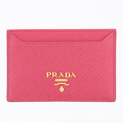 プラダ サフィアーノ カードケース ピオニーピンク パスケース 定期入れ
