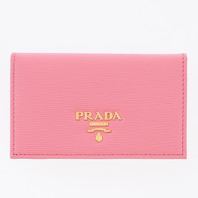 プラダ カードケース 名刺入れ ピンク マチあり