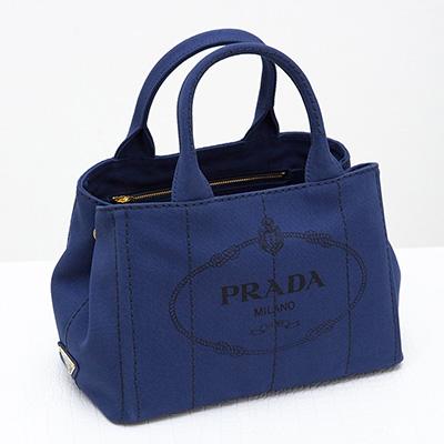 プラダ カナパ キャンバストート バッグ コーンフラワーブルー Sサイズ
