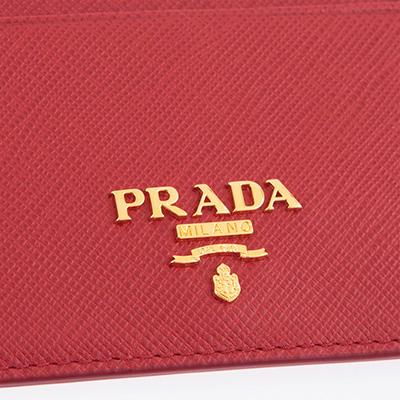 プラダ カードケース サフィアーノ パスケース レッド 赤