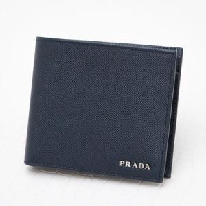 プラダ 財布 サフィアーノ 二つ折り バイカラー メンズ