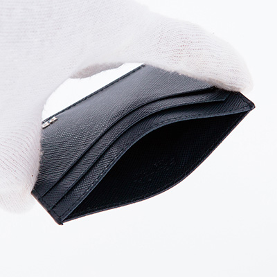 プラダ サフィアーノ カードケース ネイビーブルー メンズ