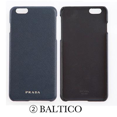 プラダ サフィアーノ iPhone6Plus/6sPlusケース ネイビー