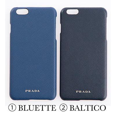 プラダ サフィアーノ iPhone6Plus/6sPlusケース コーンフラワーブルー ネイビー