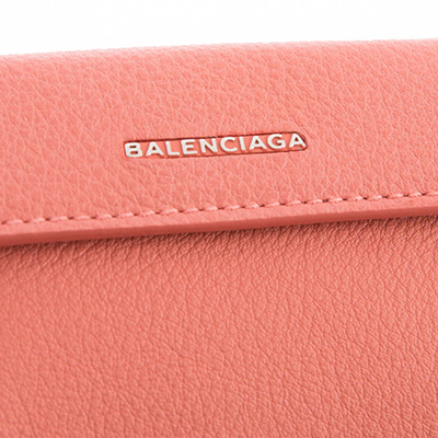 バレンシアガ 財布 ピンク 三つ折り ミニ財布