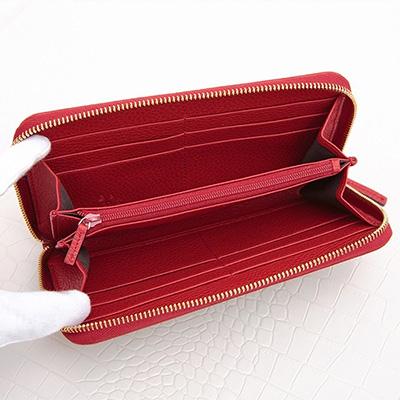 グッチ 財布 オリジナルGGパターン キャンバス GG柄 長財布 レッド 赤